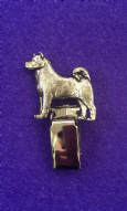 Dog Show Breed Ring Number Clip - Akita - FULL BODY Silver or Gold Style